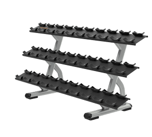 DBR0815 3 Tier 15 Pair Dumbbell Rack