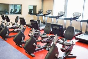 Treadmills and exercise bikes at the gym - Fitness Expo
