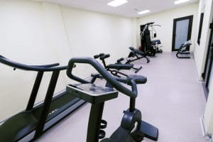 Small affordable home gym with fitness quipment - Fitness Expo