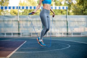 woman exercise using a jumping rope - Fitness Expo