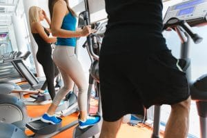 People training in gym - Fitness Expo